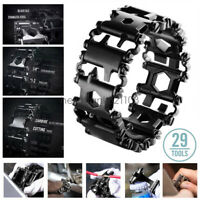 Stainless Steel Bracelet Travel Friendly Wearable Outdoor Survival Multitool