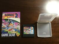 Sonic the Hedgehog 2 - Sega Game Gear Cartridge Case Manual - Perfect