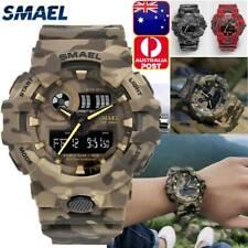 SMAEL Digital Wristwatches Military Mens Sports Watch 50M Waterproof LED Watch