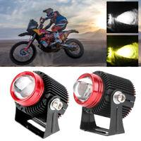 2 x Motorrad Scheinwerfer Zusatzscheinwerfer 60W Motorradscheinwerfer LED Lampe
