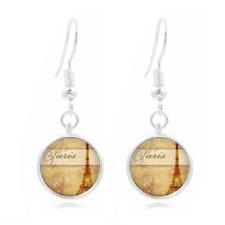 Paris france glass Frea Earrings Art Photo Tibet silver Earring Jewelry #405