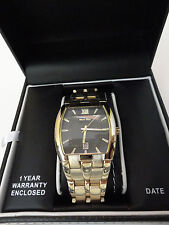 HUGO MAX WATCH {Mens Gold Look with Date Setting} NEW IN BOX