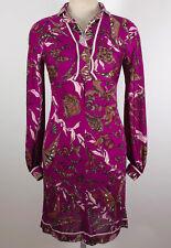 Vintage Emilio Pucci SAKS sz 8 purple dress long sleeves