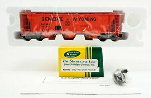 S-HELPER S GAUGE 00973 GENESEE WYOMING PS-2 3 BAY HOPPER #GNWR 710005