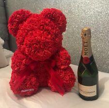 Forever Lasting Rose Flower Bear - Red Valentines