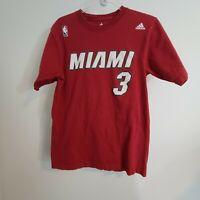 NBA Miami Heat #3 Dwyane Wade size  medium M Red adidas T-shirt
