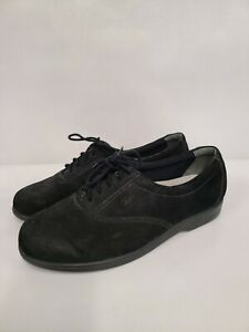 SAS Free Time Womens Oxford Shoes Size 8.5 Black Suede Support Comfort Sneaker