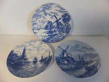 03 GRANDES ASSIETTES DECORATIVES EN FAIENCE VILLEROY ET BOCH WALLERFANGEN