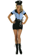 Ladies Police Cop Halloween Costume Fancy Dress Sexy Outfit Woman Officer 8912