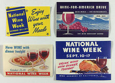 Four Poster Stamps Cinderellas National Wine Week Wine for America Drive
