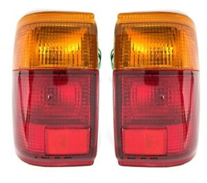 *NEW* TAIL LIGHT LAMP SUIT TOYOTA HILUX SURF YN130 & 4 RUNNER 1989 - 1991 PAIR