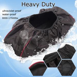 Waterproof Soft Winch Dust Capstan Cover 8000-17500 lbs Trailer SUV Vehicle USA