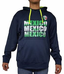Mexico Men's Sweatshirt Hoodie New With Tags Light Weight Fleece Lining