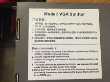 VGA Video Splitter Distribution Amplifier 250MHz High DTECH Powered 1 In 4 Out