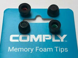 COMPLY Memory Foam Tips For Heaphones Earbuds (Double Pack S/M & M/L) - USA Made