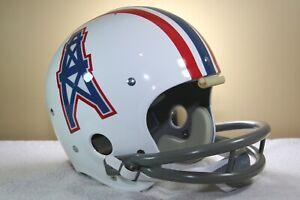 Vtg 1975 style HOUSTON OILERS Suspension TK Football Helmet 1970s 2 bar