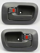 LEFT & RIGHT SET Interior Inside Door Handle & Bezel GRAY/GREY for 98-03 SIENNA