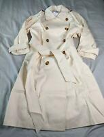 ASOS Women's Longline Trench Coat With Statement Buttons SV3 Cream US:8 UK:12