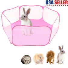 Small Animals Cage Tent Guinea Pig Rabbits H 00006000 amster Pet Playpen Exercise Fence Us