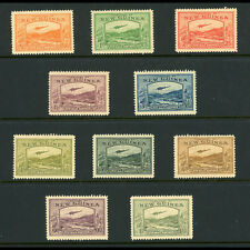 NEW GUINEA 1939 Airmail Set to 1s. SG 212-221. Lightly Hinged Mint. (BH512)