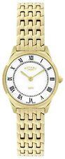 Rotary Ultra Slim Ladies Quartz Watch PVD Gold 27 Mm White Lb08002/01