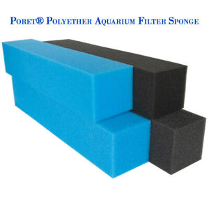 Sponge aquarium DIY Poret® Polyether Filter Foam Media HMF Block pond MORE SIZE