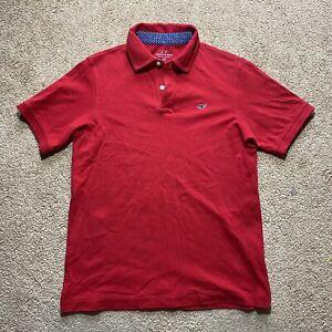 Vineyard Vines Short Sleeve Polo Shirt Youth Boys Medium M 12-14 Red