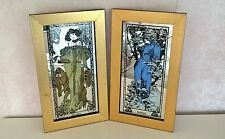 Mucha Mirrors Winter Autumn - Retro Wall Picture Mirror in Gold Frames Vintage