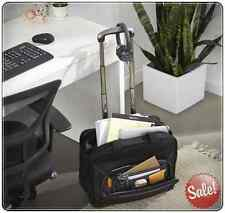 ROLLING LAPTOP COMPUTER NOTEBOOK BAG WHEEL STORAGE BRIEFCASE ROLLER POCKET 17""