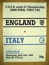 1984 UEFA Under 21 Championship Semi Final 1st League- ENGLAND v ITALY