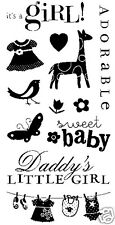 Inkadinkado Clear Stamps BABY GIRL 97606 SO CUTE!!!