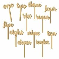 12pcs One-Twelve Wooden Table Numbers on Sticks for Wedding Party Decoratio R4Z2