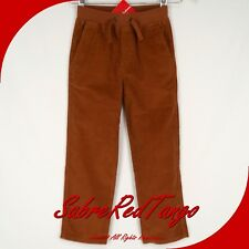 NWT HANNA ANDERSSON COMFORT CAREFREE CORDS CORDUROY PANTS BROWN 100 4T 4