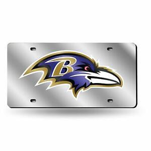 Baltimore Ravens NFL Silver Laser Tag License Plate