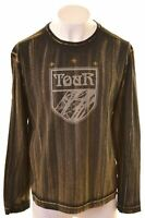 DIESEL Mens Graphic Top Long Sleeve 2XL Black Cotton  JB31