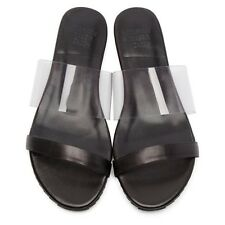 Maryam Nassir Zadeh Flat Leather Sandals with Vinyl Strap - Size 10