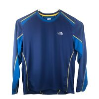 The North Face Long Sleeve FlashDry Athletic Shirt Mens Size Large Blue