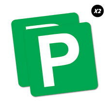 2X P Probationary Plate Green Sticker Aussie Car Flag 4x4 Funny Ute #5970EN
