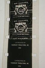 POPEYE DRY LAND SAILOR 1934 CARTOON B & W 16MM FILM MOVIE ROLLED NO REEL D64