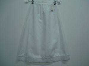 """NWT USA Made Nancy King Lingerie 26"""" Skirt Half Slip Size Small White #325N"""