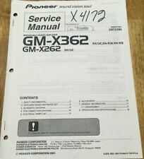 PIONEER GM-X362 GM-X262 XH UC POWER AMPLIFIER ORIGINAL SERVICE REPAIR MANUAL