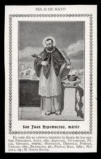 """santino-holy card""""S.GIOVANNI NEPOMUCENO"""