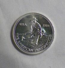 1984 Engelhard The American Prospector 1 oz. .999 Silver Round Coin U.S.A. (B)