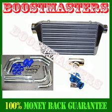 """Intercooler 25""""X12""""x3""""+ 2.5"""" Turbo Piping kit + BOV + Adapter for RX7 RX8 Miata"""