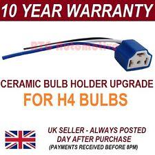 H4 HEADLIGHT CERAMIC BULB HOLDER UPGRADE 100W+ FOR VW VW POLO FOX LUPO -BH4