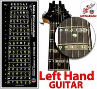 Left Hand Guitar Fretboard Note Map Decals Stickers. by Note Knowledge
