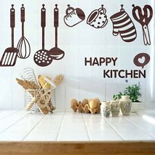 Vinyl Removable Wall Decal Decor Kitchen Cooking Utensil Spatula Sticker