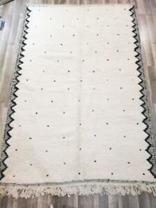 Moroccan Beni Ourain rug wool Beber carpet Handwoven area rugs luxury Style