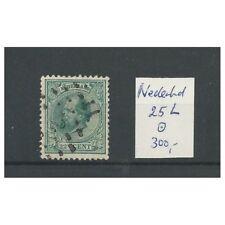 Nederland  25L Willem III 1872 VFU/gebr  CV  300 €