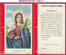 855 SANTINO HOLY CARD  SANTA LUCIA VERGINE E MARTIRE ED G MI 12 LOGO C MEDIA CON